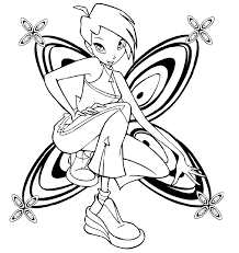 coloring book pages winx club winx club the enchantix coloring pages