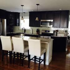 dark kitchen cabinets white backsplash 3409 home and garden