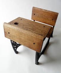 vintage wood desk small old wood u0026 cast iron desk circa 1970s doll teddy bear