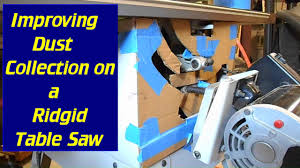 table saw vacuum dust collector improve your table saw dust collection youtube