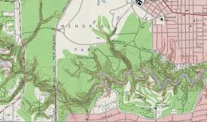 Buffalo Map 1955 Topographic Map Of Buffalo Bayou In The Project Area Save