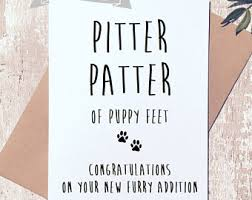 congrats on your new card new puppy card etsy