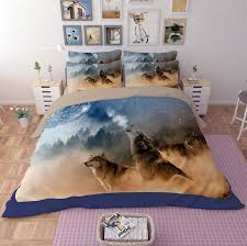 wolf bed set 3d animal wolf lion tiger leopard 3 bedding sets queen king twin