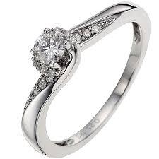 1 4 carat engagement ring 9ct white gold 1 4 carat solitaire ring h samuel
