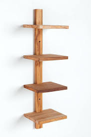 articles with teak spine wall shelf tag engaging spine wall shelf
