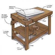 Free Wooden Potting Bench Plans by A Potting Table With A Twist Project Plan Fine Gardening