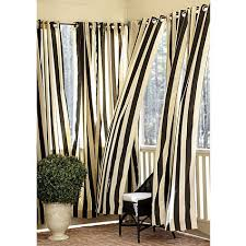 Black Outdoor Curtains Ballard Indoor Outdoor Curtain Black And White Especially