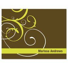 personalized chevron note cards and stationery personalized