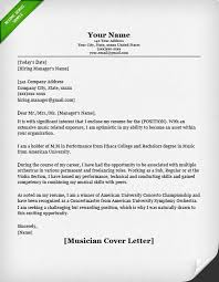 musician cover letter sample resume genius