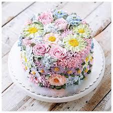 birthday flower cake bouquet of flowers birthday cake style by modernstork