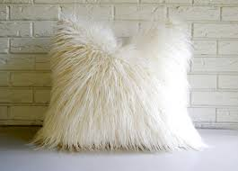 Oversized Faux Fur Throw Styles Soft Mongolian Lamb Pillow For Inspiring Smooth Fur