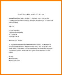 scholarship cover letter letter of recommendation for middle