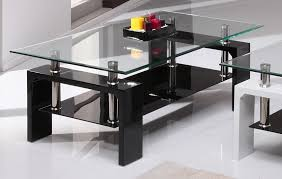 Black Gloss Glass Coffee Table Calico Clear Black Glass Coffee Table