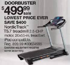 black friday deals on treadmills black friday deal nordictrack t5 7 treadmill 24985