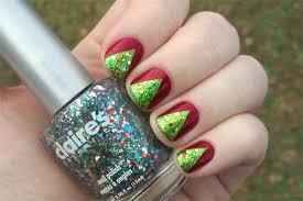 easy christmas tree nail art designs easy nail art