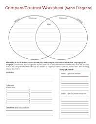 compare contrast worksheet 4th 10th grade worksheet lesson planet
