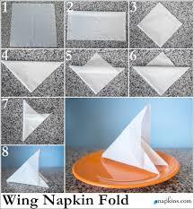 how to make fancy table napkins wing napkin fold how to fold a napkin pinterest napkins