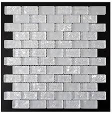 Glass Tile Bathroom Backsplash by Crystal White Glass Mosaic Tile Glass Tile Backsplash Mosaic