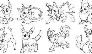 pokemon coloring pages google search pokemon coloring pages all eevee evolutions printable coloring