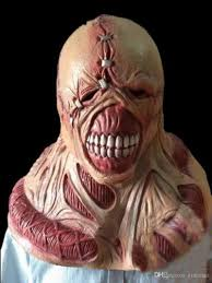 scary latex mask fortress of fear game resident evil manic ghoul