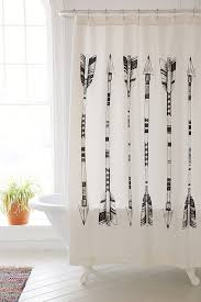 Black White Shower Curtain Curtain Black And Shower Curtain Fabric Shower Curtains