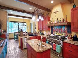 Red And Yellow Kitchen Ideas Kitchen Design Awesome Vintage Mexican Kitchen Color With Red