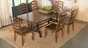 Rooms To Go Dining Table Sets by Industrial Court Mango 5 Pc Rectangle Dining Room Dining Room