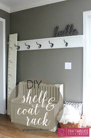 best 25 coat hanger ideas on pinterest wood wood rack and diy shelf coat rack great way to organize coats for the winter
