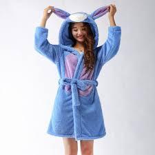 robe de chambre avec capuchon printemps automne hiver flanelle animaux bourriquet femmes robe à