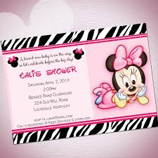 top collection of minnie mouse baby shower invitations templates