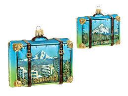 portland oregon travel suitcase blown glass