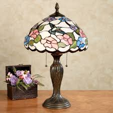 Stained Glass Light Fixtures Sweet Nectar Hummingbird Stained Glass Table Lamp