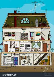 ideas cross section of a house
