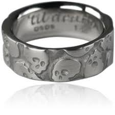 skull wedding rings mens or womens skull wedding band solid 14k gold uninc0342 by
