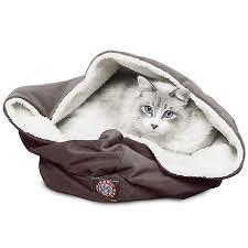 Petco Cat Beds Majestic Pet Chocolate Suede Burrow Bed Petco