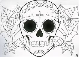 coloring surprising skull drawings easy step04a silly