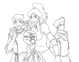 legend of korra coloring pages free to print coloring home