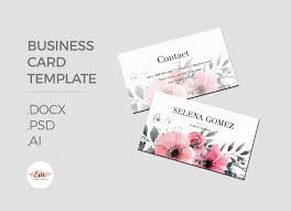elegant floral business card template by emaholic templates