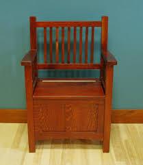 5020 24 quarter sawn white oak deep storage bench early american