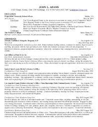 Resume For Law Clerk Current Legal Resume
