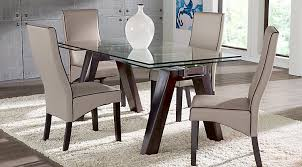 glass dining room table and chairs glass top dining room table sets with chairs