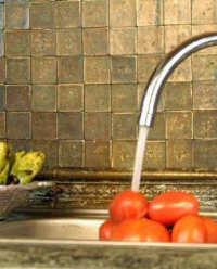 Metallic Tile Backsplash by Seal Metal Tile Clean Metal Tile Grout Restore Metal Tile And