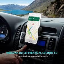 porta cd per auto mpow porta cellulare universale da auto per cd slot con la