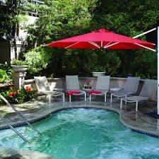 Pool And Patio Decor Furniture Charming Cantilever Umbrella For Inspiring Patio Or