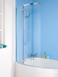 L Shaped Shower Bath With Hinged Screen Veebath Brill Curved Bath Screen For P Bath 1400x720mm With Knob