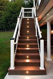 outdoor stairs lighting image of deck stair lights narrow outdoor