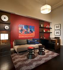 Bedroom With Accent Wall by 20 Home Offices That Turn To Red For Energy And Excitement