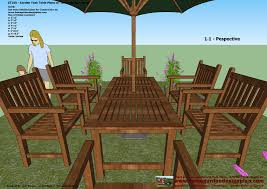 Plans For Building A Wooden Patio Table by Wood Patio Furniture Plans Free Gallery Gyleshomes Com