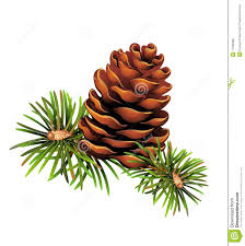 cone christmas balls clipart