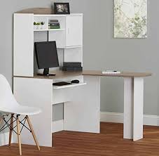 Corner Computer Desk With Hutch by Cnlinkco Home Office Desk With Hutch L Shaped Wood Corner Computer